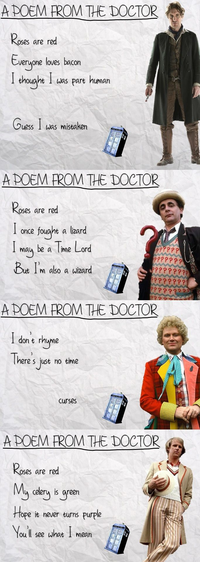 The Doctor's Attempts at Poetry Are Predictably Idiosyncratic