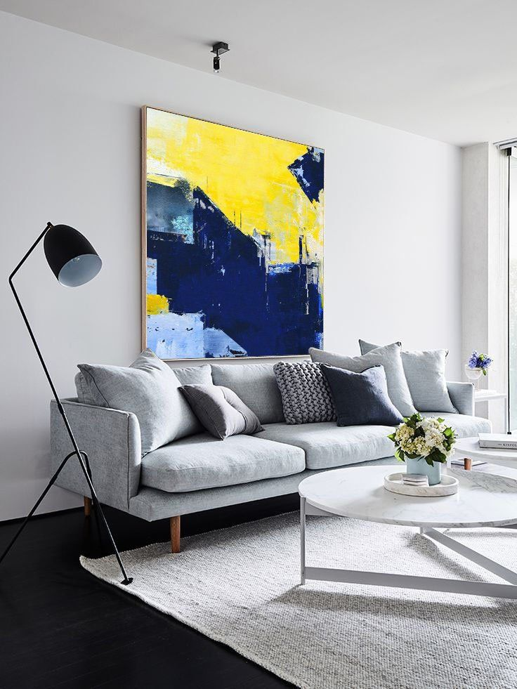 Super Texture Palette Abstract Oil Painting On Canvasblue Etsy Living Room Scandinavian Living Room Art Trendy Living Rooms #painting #art #for #living #room
