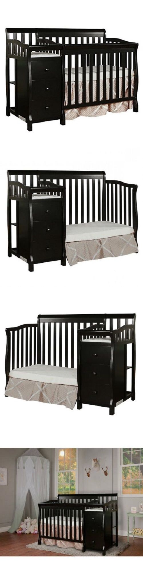 Baby cribs staten island - Baby Nursery 4 In 1 Convertible Crib With Changer Baby Toddler Nursery Furniture