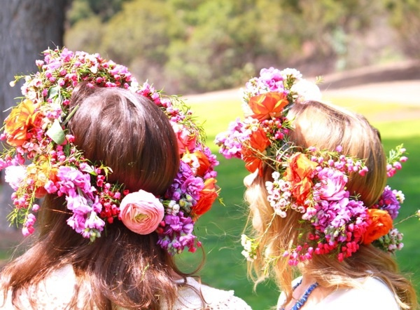 flower crowns with Kelly