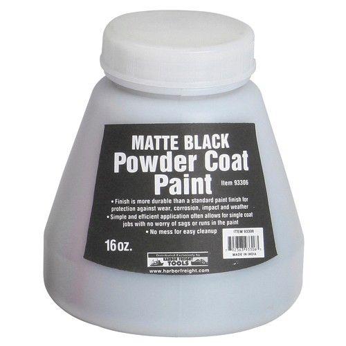 16 Oz. Powder Coat Paint, Matte Black Harbor Freight $5.99