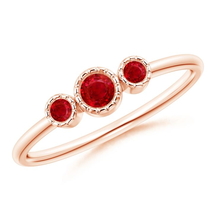 Angara Round Two Stone Ruby Ring with Bar Setting xfnIM33