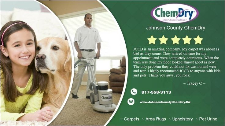 Great Review on Facebook!  We Love our Customers!    Dry in 1-2 hours! Kid Safe! Pet Safe!  Green Certified!  Drier! Cleaner! Healthier!  Absolutely the best carpet cleaning you can get in Johnson County, Tx! Call Today!   817-558-3113.