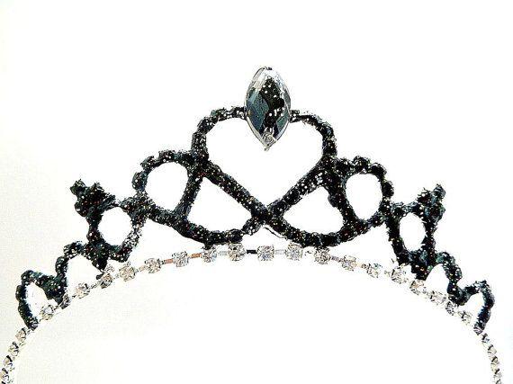 Black Swan Tiara Black Swan Crown Gothic by StarDustSpark on Etsy