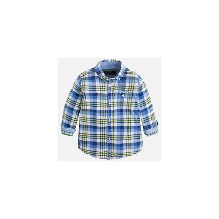 Mayoral Рубашка для мальчика Mayoral  — 2149р. ----------------- Рубашка для мальчика Mayoral (Майорал) – это стильная, модная и практичная модель. Рубашка в клетку с длинными рукавами от известной испанской марки Mayoral (Майорал) выполненная из натурального хлопка, станет прекрасным дополнением гардероба вашего мальчика. Рубашка застегивается на пуговицы, на груди имеется кармашек на пуговице, декорирована небольшой монограммой на груди и голубой бейкой на манжетах. Уголки воротника…