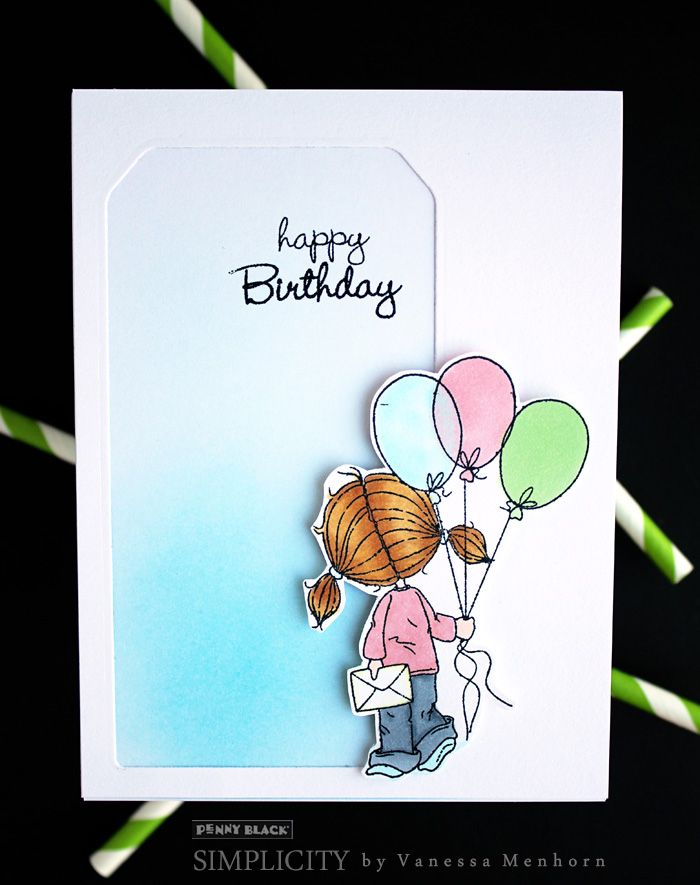 Clean and simple inspiration with Penny Black stamps and dies. Download complete supplies and instructions on our new SIMPLICITY site!