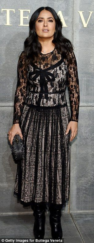 Priyanka Chopra and Salma Hayek attend Bottega Veneta show | Daily Mail Online