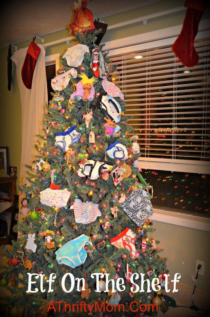 elf on the shelf underwear tree