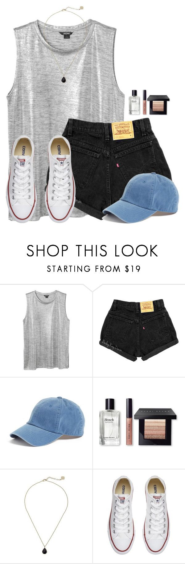 """""""~its all for you in my pursuit for happiness~"""" by victoriaann34 ❤ liked on Polyvore featuring Monki, American Needle, Bobbi Brown Cosmetics, Kendra Scott and Converse"""