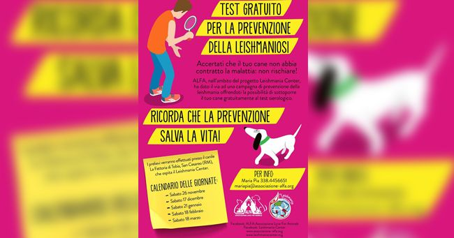 Test Leishmania gratuito Roma