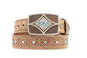 Ariat Women's Western Tombstone Leather Belt