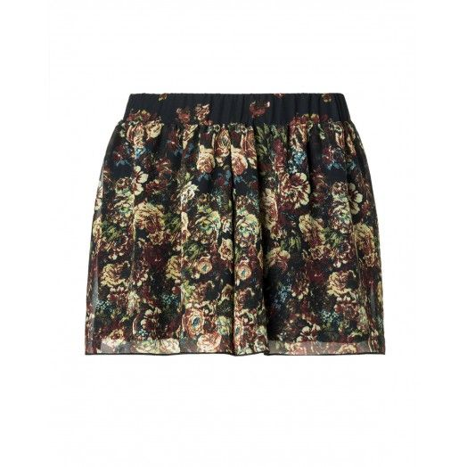 Skirt, pleated allover print made of georgette - UCB