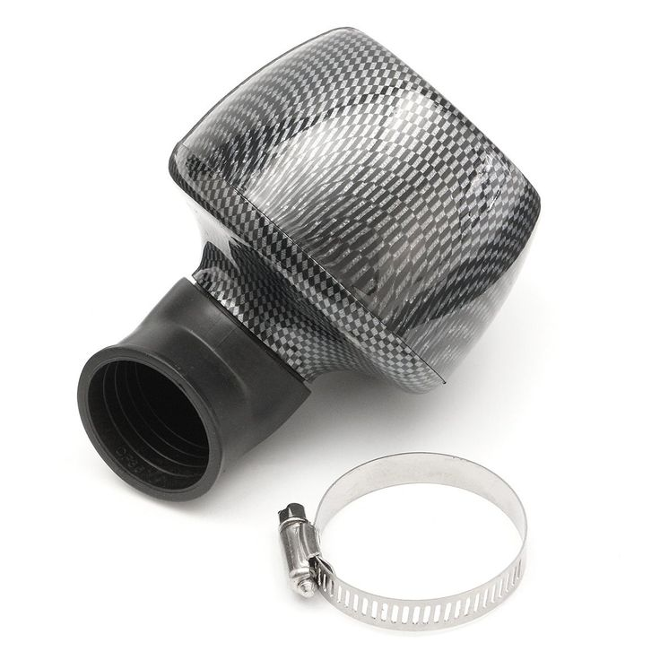 35mm Black Universal Air Filter Mushroom Head Carbon Fiber For 150cc & 250cc Scooter Moped Dirt Bikes ATV Go kart
