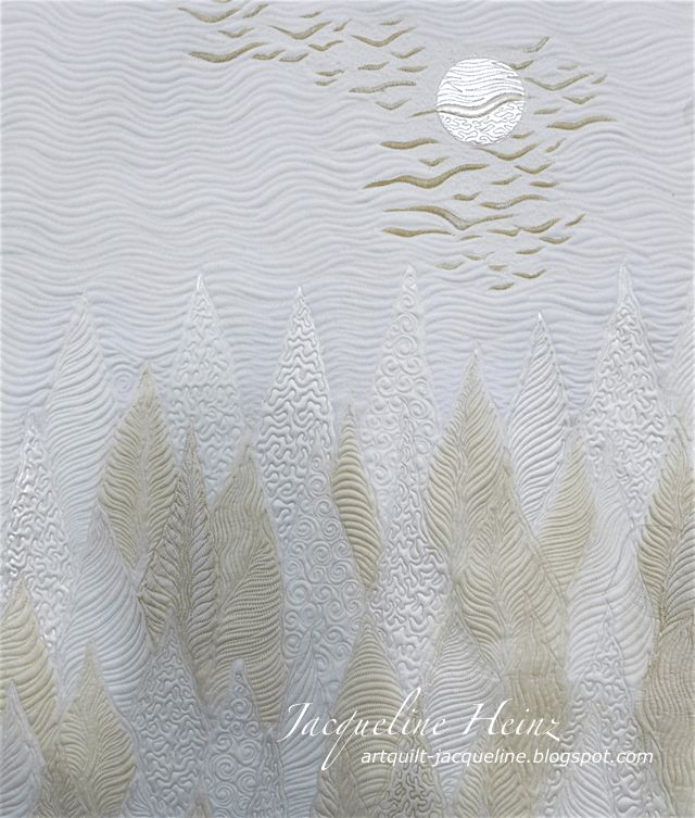 Jacqueline Heinz Quilt Art Textil, Wolfenbüttel Mythos Wald