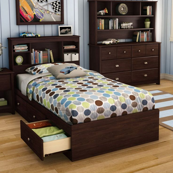 willow twin bookcase storage platform bed kids storage beds at hayneedle - Twin Bed Frame With Drawers