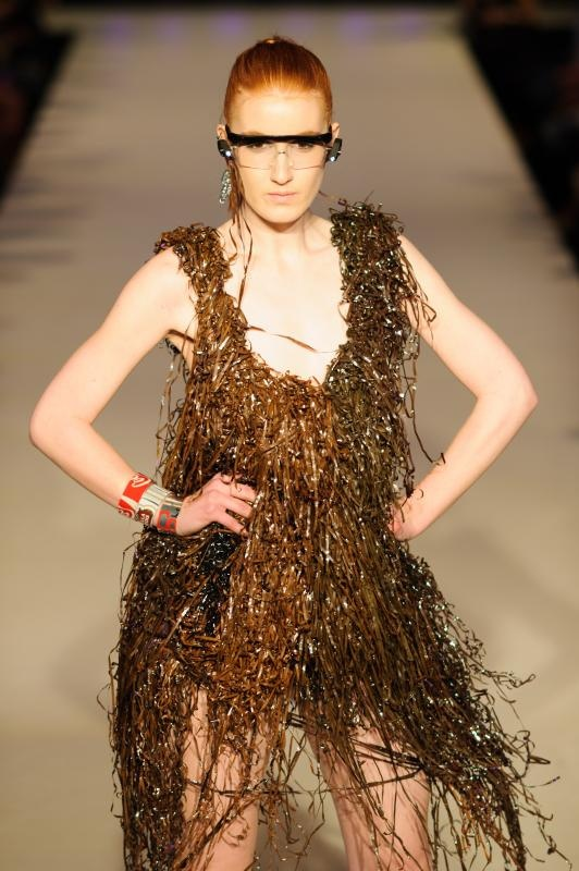 Cassette Tape Dress With Coal bracelets