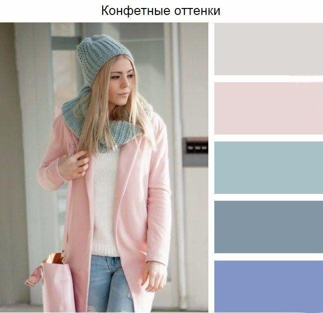 Сочетания цветов для шапок и шарфов.