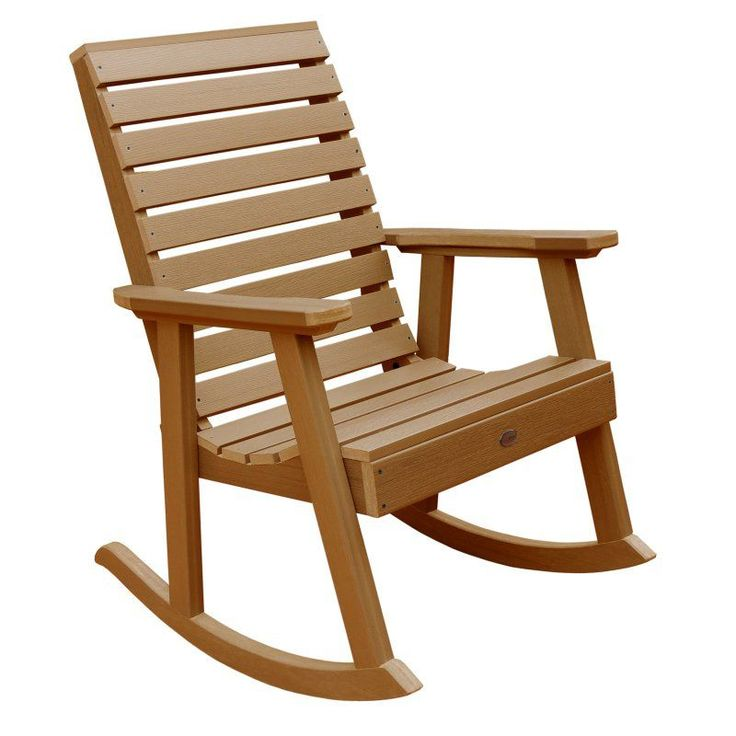 Outdoor highwood® Weatherly Recycled Plastic Rocking Chair Toffee - AD-RKCH2-TFE
