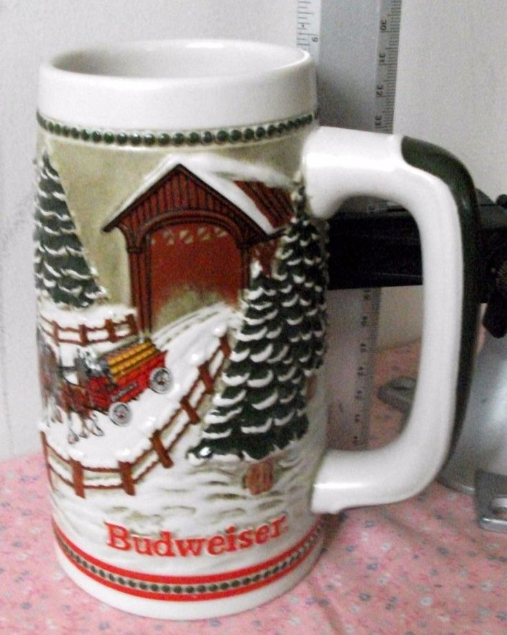 "Vintage Budweiser Stein 1984 Collectible ""Hitch Passing Through Covered Bridge"""