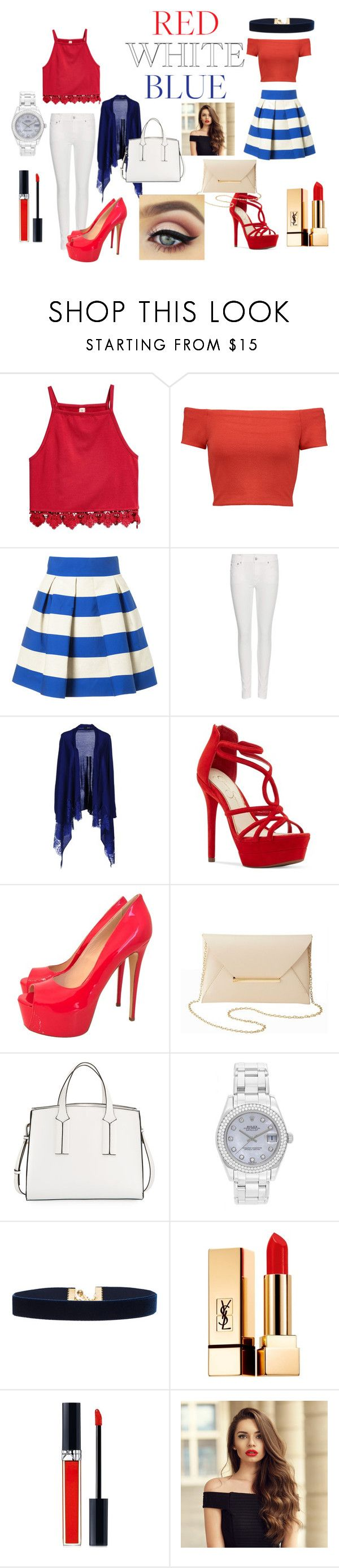 """casual look"" by hithaishi on Polyvore featuring Alice + Olivia, Delpozo, Polo Ralph Lauren, LIU•JO, Jessica Simpson, Gianmarco Lorenzi, Charlotte Russe, French Connection, Rolex and Vanessa Mooney"
