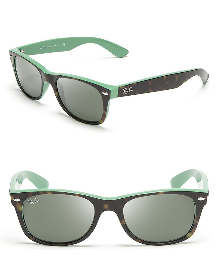 Shop for Ray-Ban New Wayfarer Sunglasses online at Smaller frames and contrast rims: Ray-Ban knows just how to put a fresh spin on its new wayfarers.