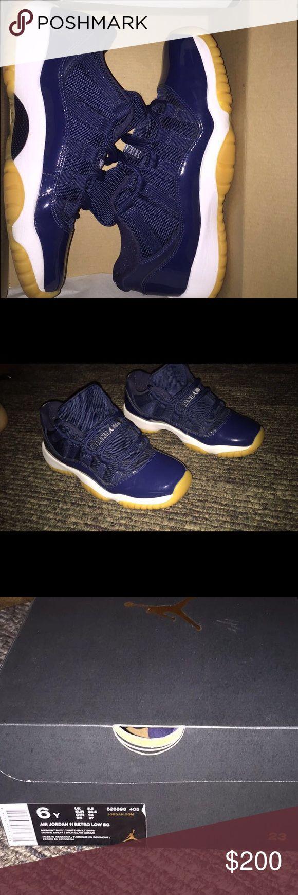 navy blue jordan 11s size 6 condition 9/10 Jordan Shoes Athletic Shoes