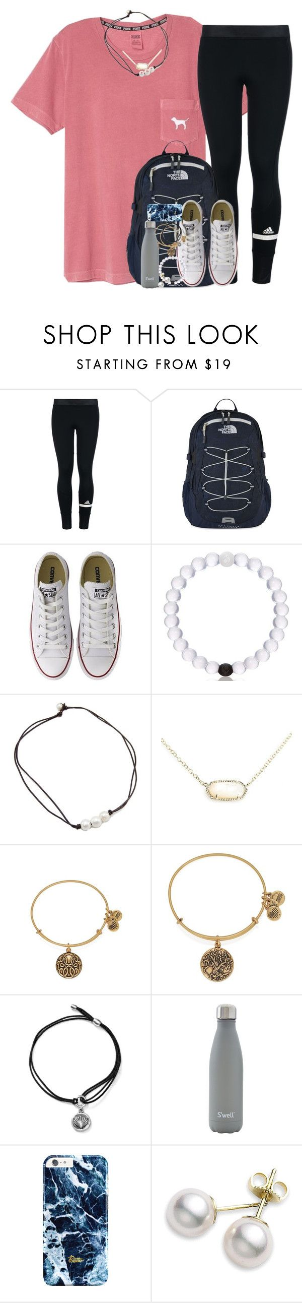 """""""i have soo many cute fall drafts to post"""" by kate-elizabethh ❤ liked on Polyvore featuring adidas, The North Face, Converse, Kendra Scott, Alex and Ani, S'well and Mikimoto"""