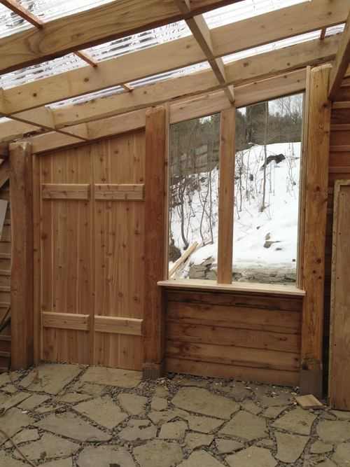 How to build earth-shelteted greenhouse