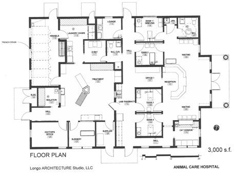 33 best floor plans veterinary hospital design images on pinterest veterinary design on a dime a young veterinarian built this efficient practice with less malvernweather Images