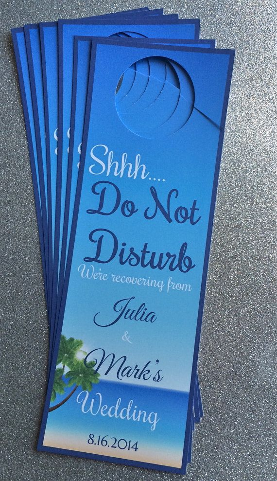 Wedding Door hangers for Destination/Beach Wedding- Customizable Aruba, Jamaica, Turks and Caicos, Punta Cana, Bahamas, Hawaii and more!