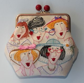 Red Brolly stitched Friends purse