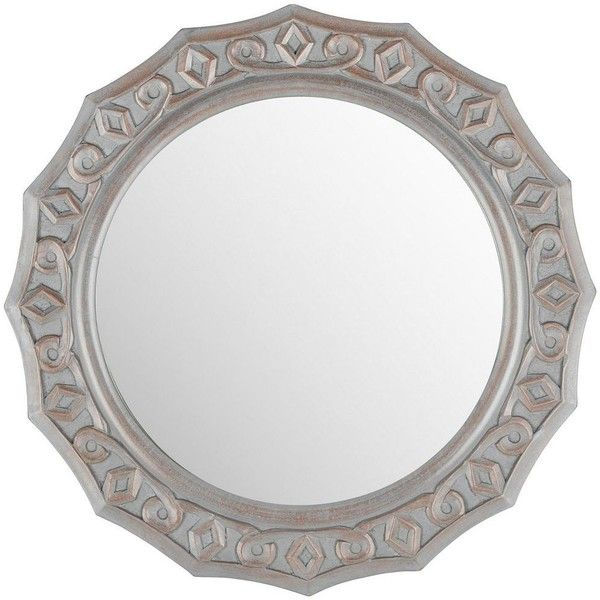 Safavieh Gossamer Lace Wall Mirror (1.905 NOK) ❤ liked on Polyvore featuring home, home decor, mirrors, grey, wall mirrors, interior wall decor, gray home decor, home wall decor and grey home decor