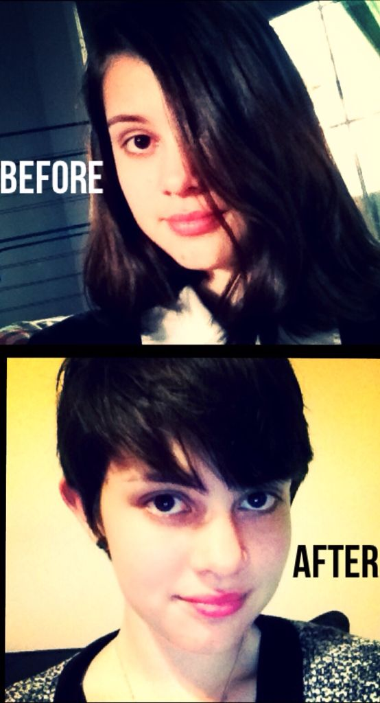 My before/after hair!