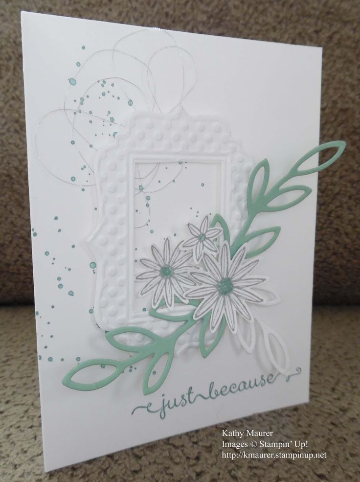 Card made with Stampin' Up!'s Grateful Bunch, rose wonder and Fun Frames Embossing Folder For details, go to my Wednesday, April 27, 2016, blog at http://kmaurer.stampinup.net