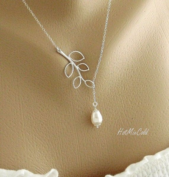 Simple Necklace Dainty Teardrop by hotmixcold, $26.00