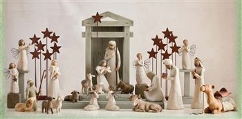 28 Piece Willow Tree Nativity...Another way to display...