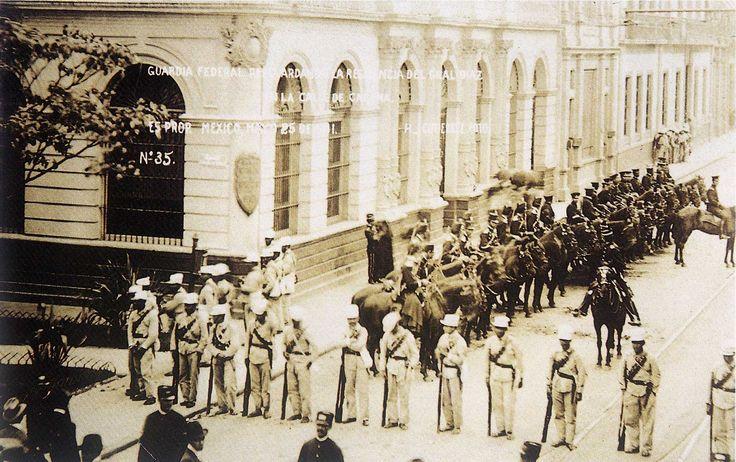 Guardia federal en la casa del general Díaz