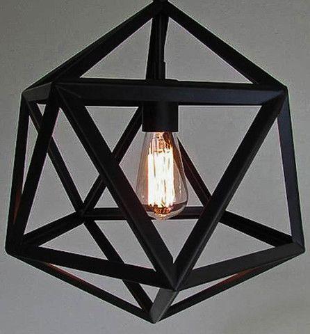 Industrial Diamond Pendant Lamp