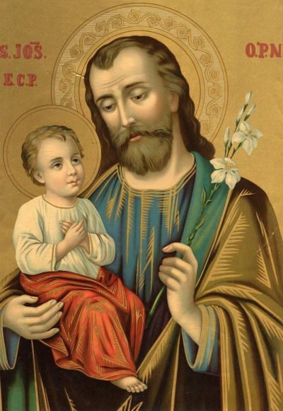 theraccolta:  An icon of Saint Joseph in the manner of the icon of Our Lady of Perpetual Help