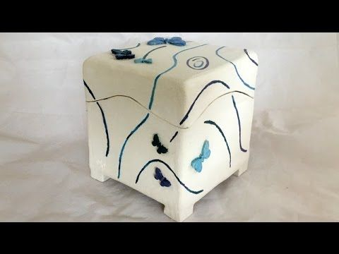 Keramik Dose mit Schmetterlingen/Ceramic box with butterflys - YouTube