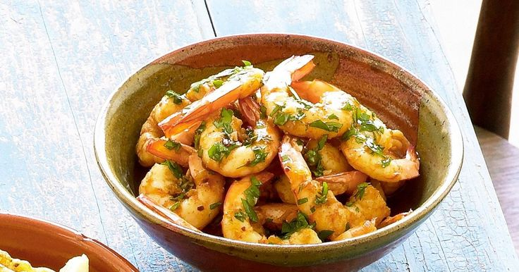 The simple flavours of these king prawns will make you feel like royalty.