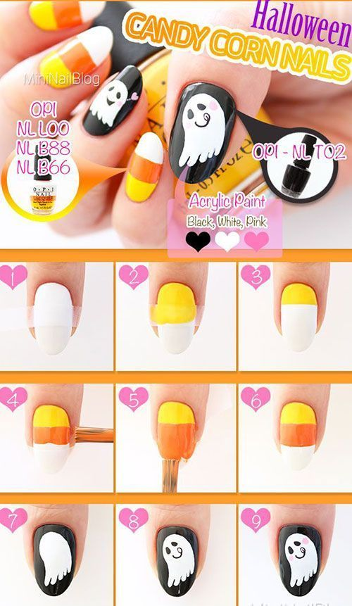 Halloween Nail Art Designs Step By Step Hireability