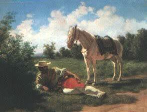 Descanso, óleo de Juan Manuel Blanes