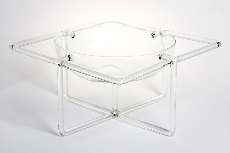 "UTSUWA designed by Ryu Yamamoto - Utsuwa is inspired by the Japanese character ""器"" which means a container. Here it is represented as a big organic bowl protected by a geometric frame. Some Japanese characters, such as ""器"", are hieroglyphs made from pictorial drawings which represent words. #drawingglass #fabricadesignstudio #fabrica #design #glass #ryuyamamoto #massimolunardon"