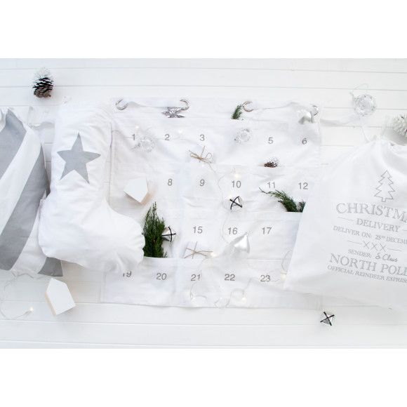 Christmas advent calendar in white | hardtofind.