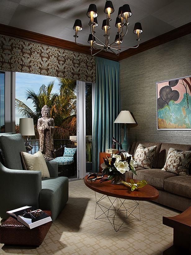 Blue And Brown Living Room Room Design Interior Living