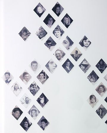 Family Tree Wall ArtDiamonds Families, Ideas, Modern Families, Family Trees, Photos Display, Martha Stewart, Families Photos, Families Trees, Precious Diamonds