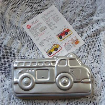 wilton fire truck cake pan instructions