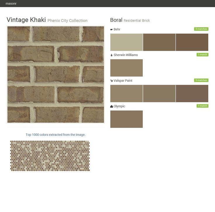 Vintage khaki phenix city collection residential brick boral behr sherwin williams valspar - Breathable exterior masonry paint collection ...