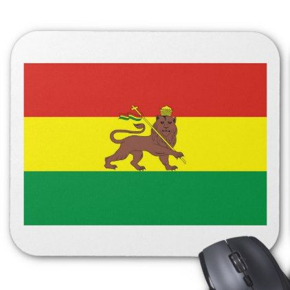 #Old Ethiopian Flag with Lion of Judah Mouse Pad - #office #gifts #giftideas #business